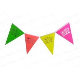 Banderín Feliz Cumpleaños Neón Surtido