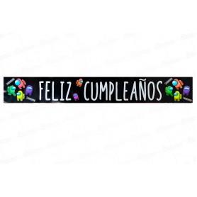 Letrero Feliz Cumpleaños Among Us