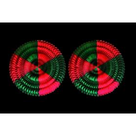 Adorno Girasol Verde - Rojo