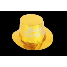 Sombrero Holográfico Happy Birthday corto