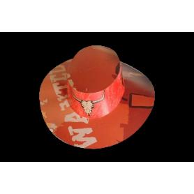 Sombrero Cartón Vaquero Naranja