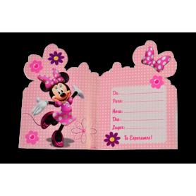 Invitación Sobre Sempertex Minnie Paquete x 8