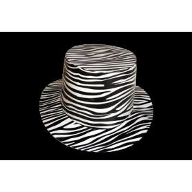 Sombrero Cartón Cebra
