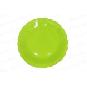 Plato Verde CyM Paquete x 12