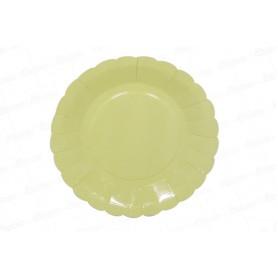 Plato Amarillo Pastel CyM Paquete x 12