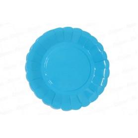 Plato Azul CyM Paquete x 12