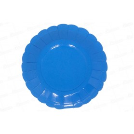 Plato Azul Rey CyM Paquete x 12
