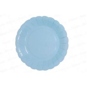 Plato Azul Celeste CyM Paquete x 12