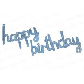 Globo Letrero Happy Birthday Azul