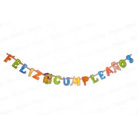 Letrero Feliz Cumpleaños Hawaiano Dfiestas