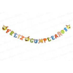 Letrero Feliz Cumpleaños Carita Feliz