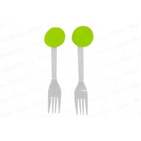Tenedor Fondo Entero Verde Paquete x12