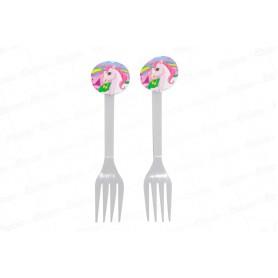 Tenedor Unicornio Paquete x 20
