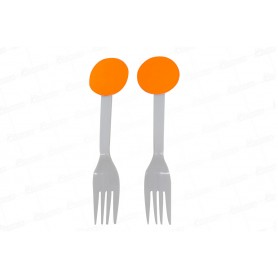 Tenedor Neón Naranja Paquete x12