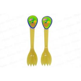 Cuchara Tenedor Hawaiano Paquete x20