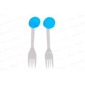 Tenedor Fondo Entero Azul Paquete x12
