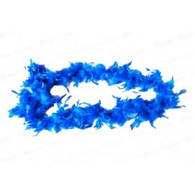Boa Azul Real En Plumas