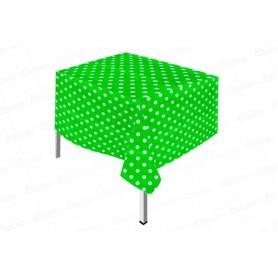 Mantel Polka Verde Manzana