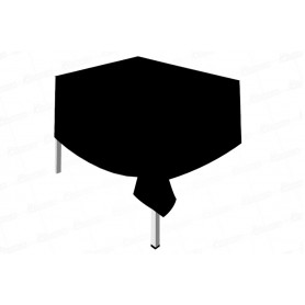 Mantel Plástico Fondo Entero Negro