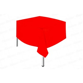 Mantel Plástico Fondo Entero Rojo