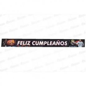 Letrero Feliz Cumpleaños  Barcelona Vs Real Madrid
