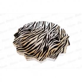 Tortera Redonda Animal Print Cebra Paquete x20
