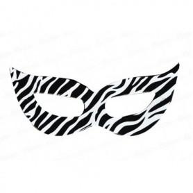 Antifaz  Animal Print Cebra Negro  Pequeño Paquete x12