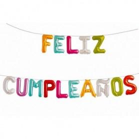 Globo Letrero Metalizado Feliz Cumpleaños Grande