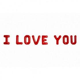 Globo Letrero Metalizado I Love You