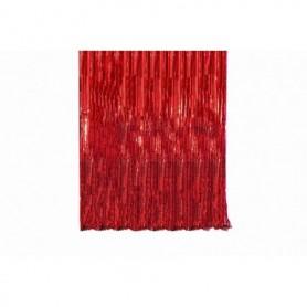 Cortina Flecos Roja