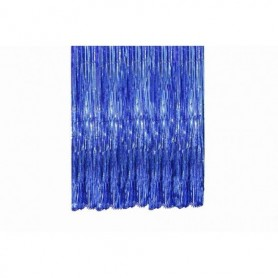 Cortina Flecos Azul Real