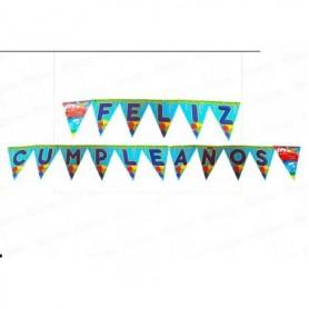 Banderin Feliz cumpleaños Cars