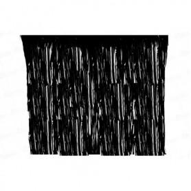 Cortina  Flecos Negra