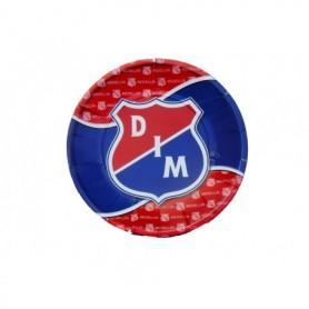 Plato Redondo Deportivo Independiente Medellin paquete x12