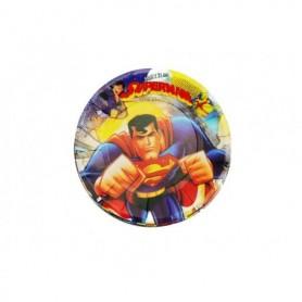 Plato Redondo Superman paquete x12