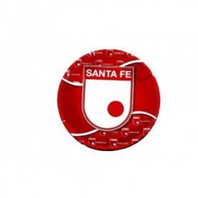 Plato Redondo Independiente Santa Fe paquete x12