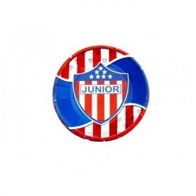 Plato redondo Atlético Junior paquete x12