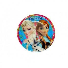 Plato Redondo Frozen Paquete x12