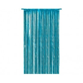Cortina Flecos Azul Celeste