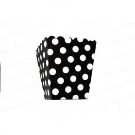Crispetera Polka Negro Paquete x12