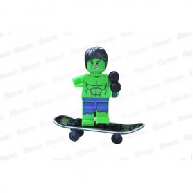 Muñeco Lego Hulk En Patineta