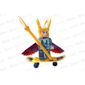 Muñeco Lego Loki  En Patineta