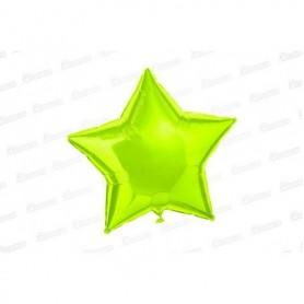 Globo Estrella Metalizado Verde Neón