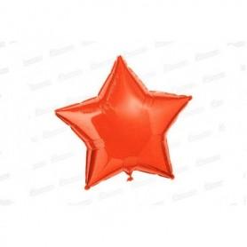 Globo Estrella Metalizado Naranja Neón