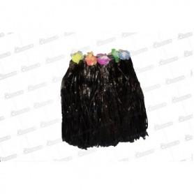Falda Negra Corta Hawaiana