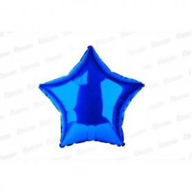 Globo Estrella Metalizado Azul Real
