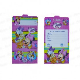 Tarjeta de Invitación Minnie Baby  x12