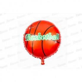 Globo Metalizado Pelota Basketball