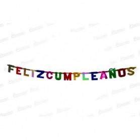Letrero Feliz Cumpleaños Colores Surtidos
