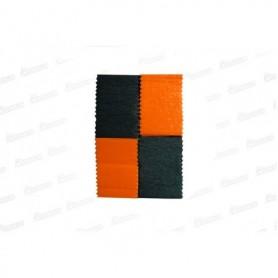 Cortina Crepe Negro - Naranja